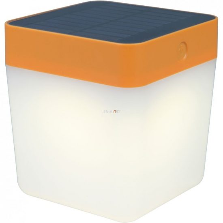 LUTEC P9080-3K OR TABLE CUBE 1W LED IP44 hordozható narancss.napelemes lámpa
