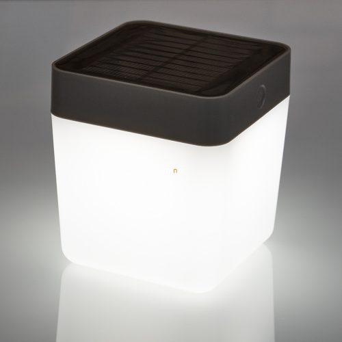 Lutec P9080-3K SI Table Cube hordozható napelemes kültéri LED lámpa 1W