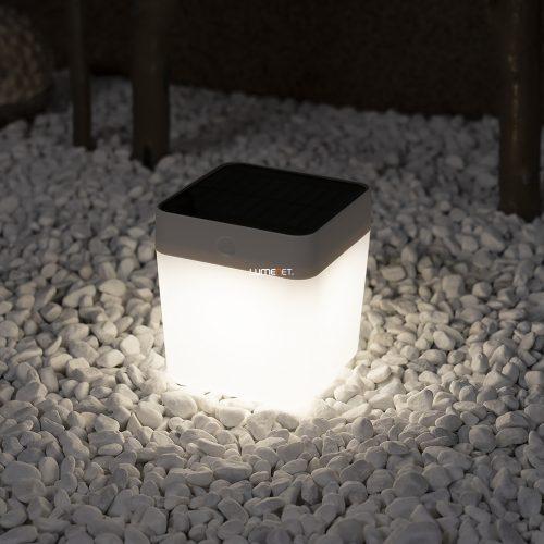 Lutec P9080-3K WH Table Cube hordozható napelemes kültéri LED lámpa 1W
