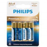 Philips Premium Alkaline LR6M4B/10 AA ceruza elem LR6 166% 4db/csomag