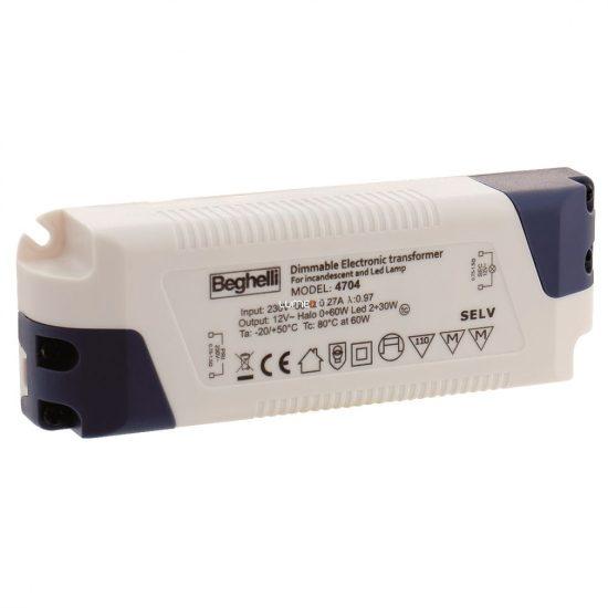 Beghelli 4704 60W 12V halogén 0-60W és LED 2-30W működtető egység