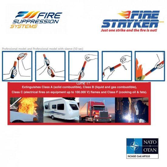 Fire Stryker Esp 004 50sec 25,9x3,3cm 275g tűzoltó fáklya