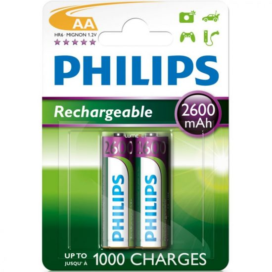 Philips MultiLife R6-B2A260/10 AA ceruza akku /2600mAh 2db/csomag