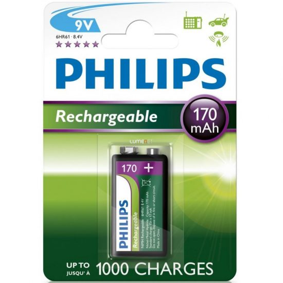 Philips MultiLife 9V-B1A17/10 e-block 9V akku /170mAh