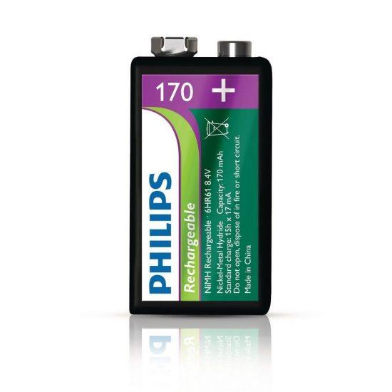 Philips MultiLife 9V-B1A17/10 e-block 9V akku /170mAh