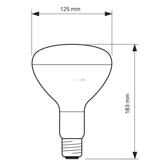 Philips R125 IR 375W E27 230-250V CL infra lámpa