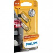 Philips Original Vision +30% 12961B2 W5W 12V