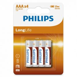 Philips LongLife R03-L4B/10 AAA mikro elem LR03 4db/csomag