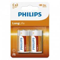Philips LongLife R14-L2B/10 C baby elem LR14 2db/csomag