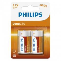 Philips LongLife R14L2B/10 C baby elem LR14 2db/csomag