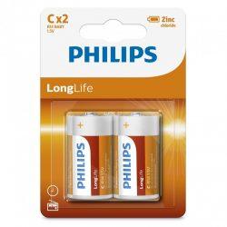 Philips LongLife R14L2B/10 C baby elem LR14 2db/csomag