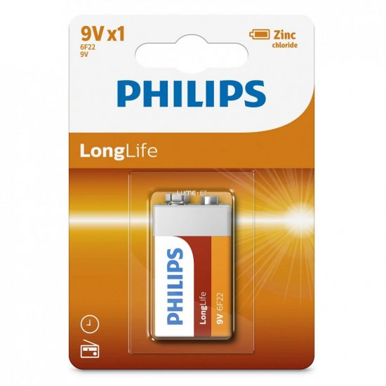 Philips LongLife 6F22-L1B/10 e-block 9V elem