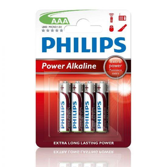 Philips PowerAlkaline LR03-P4B/10 AAA mikro elem LR03 4db/csomag