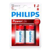 Philips PowerAlkaline LR14-P2B/10 C baby elem LR14 2db/csomag