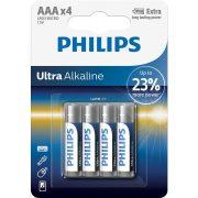 Philips UltraAlkaline LR03-E4B/10 AAA mikro elem LR03 4db/csomag