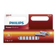 Philips Power Alkaline LR03P12W/10 AAA mikro elem LR03 12db/csomag