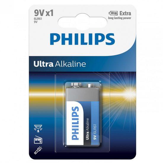 Philips UltraAlkaline 6LR61-E1B/10 e-block 9V elem