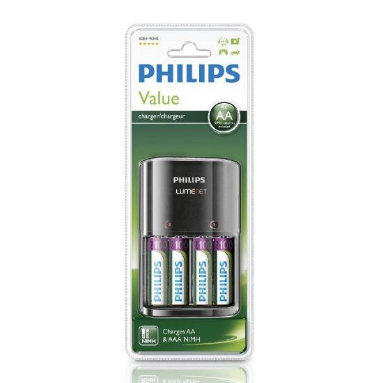 Philips MultiLife SCB1490NB/12 akkutöltő AA és AAA NiMH (+4db 2100mA AA)