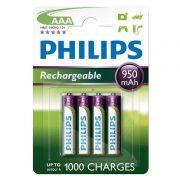 Philips MultiLife R03-B4A95/10 AAA mikro akku /950mAh 4db/csomag
