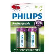 Philips MultiLife R14-B2A300/10 C baby akku /3000mAh 2db/csomag