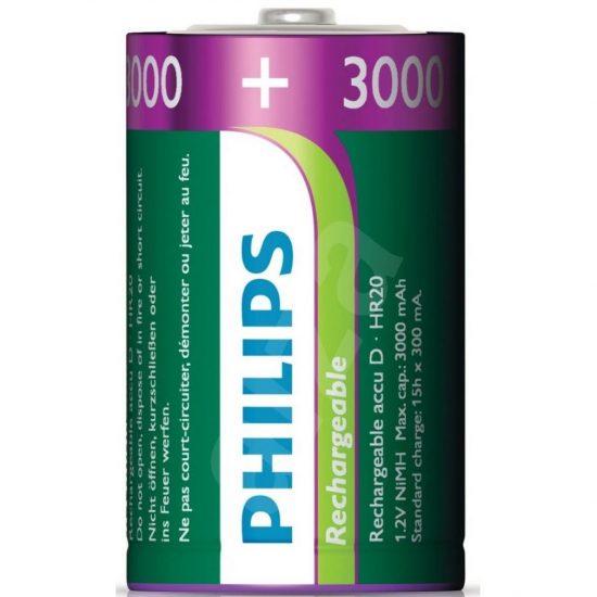 Philips MultiLife R20-B2A300/10 D góliát akku /3000mAh 2db/csomag