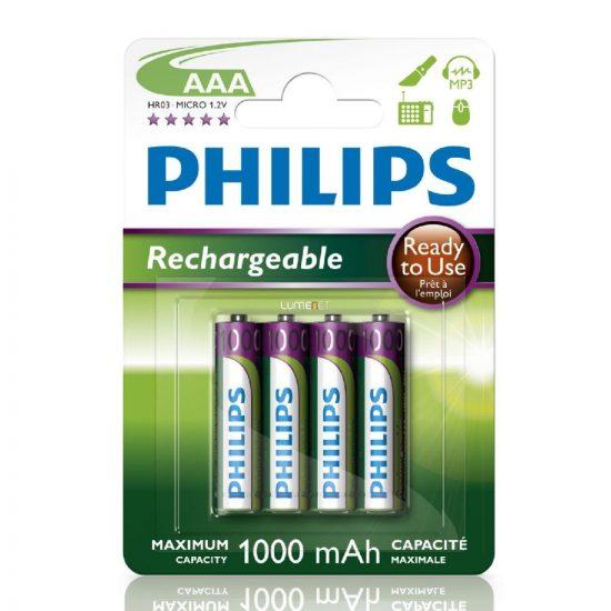 Philips MultiLife R03-B4RTU10/10 AAA mikro akku /1000mAh 4db/csomag