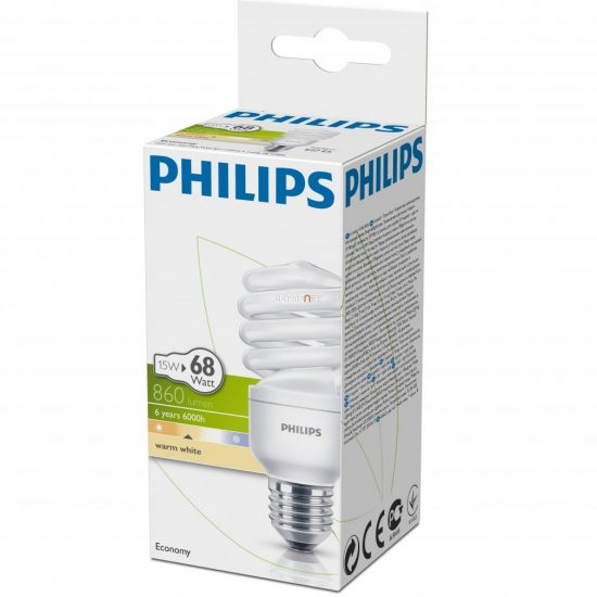 PHILIPS ECONOMY TWISTER 15W/827 E27 2700K