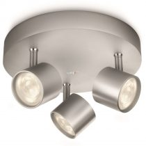 PHILIPS 56243/48/16 STAR plate/spiral LED aluminium 3x3W