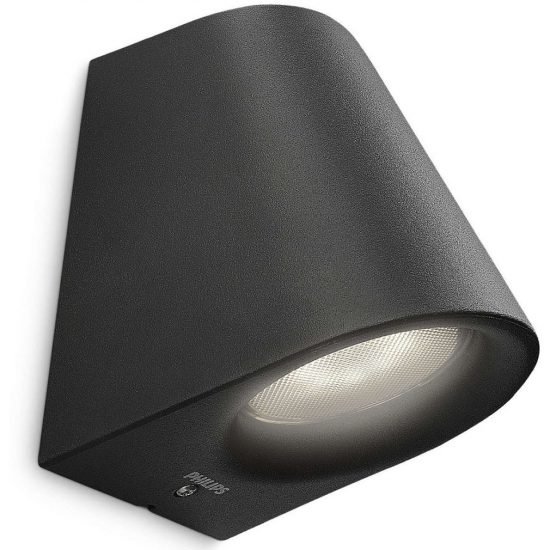PHILIPS 17287/30/16 Virga fali lámpa LED fekete 1x3W