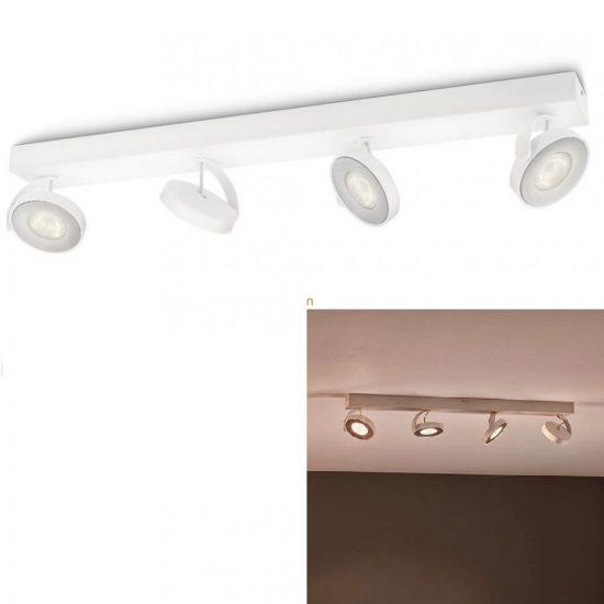 Philips 53174/31/16 myLiving Clockwork fali/mennyezeti LED spot 4x4,5W 2000lm IP20 30000h