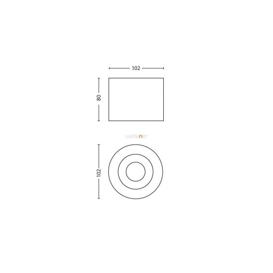 PHILIPS 53300/31/16 Phase single spot fehér 1x4,5W LED