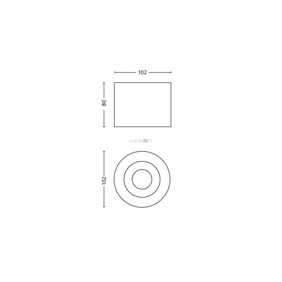 PHILIPS 53300/30/16 Phase single spot fekete 1x4,5W LED