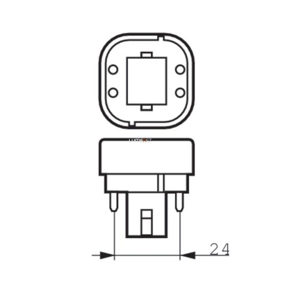 Philips CorePro LED PLC 9W 830 4P G24q-3 ROT