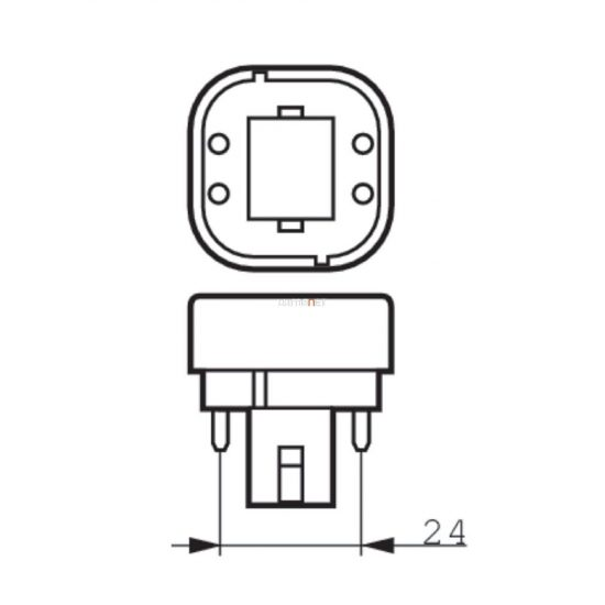 Philips CorePro LED PLC 6,5W 830 4P G24q-2 ROT