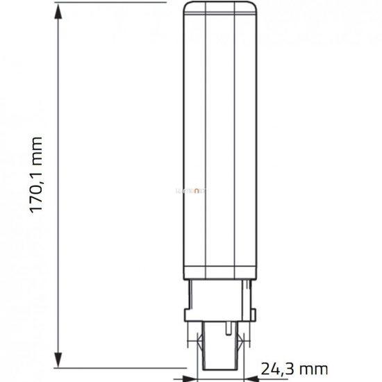 PHILIPS CorePro LED PLC 8,5W 830 2P G24d-3 ROT