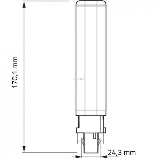 Philips CorePro LED PLC 8,5W 840 2P G24d-3 ROT