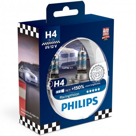 Philips RacingVision H4 +150% 12342RVS2 2db/csomag