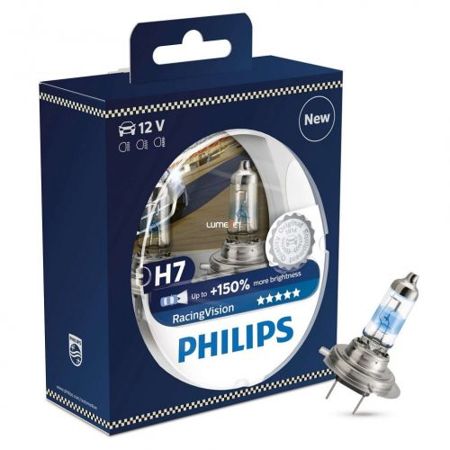 Philips RacingVision H7 +150%  12972RVS2 2db/csomag