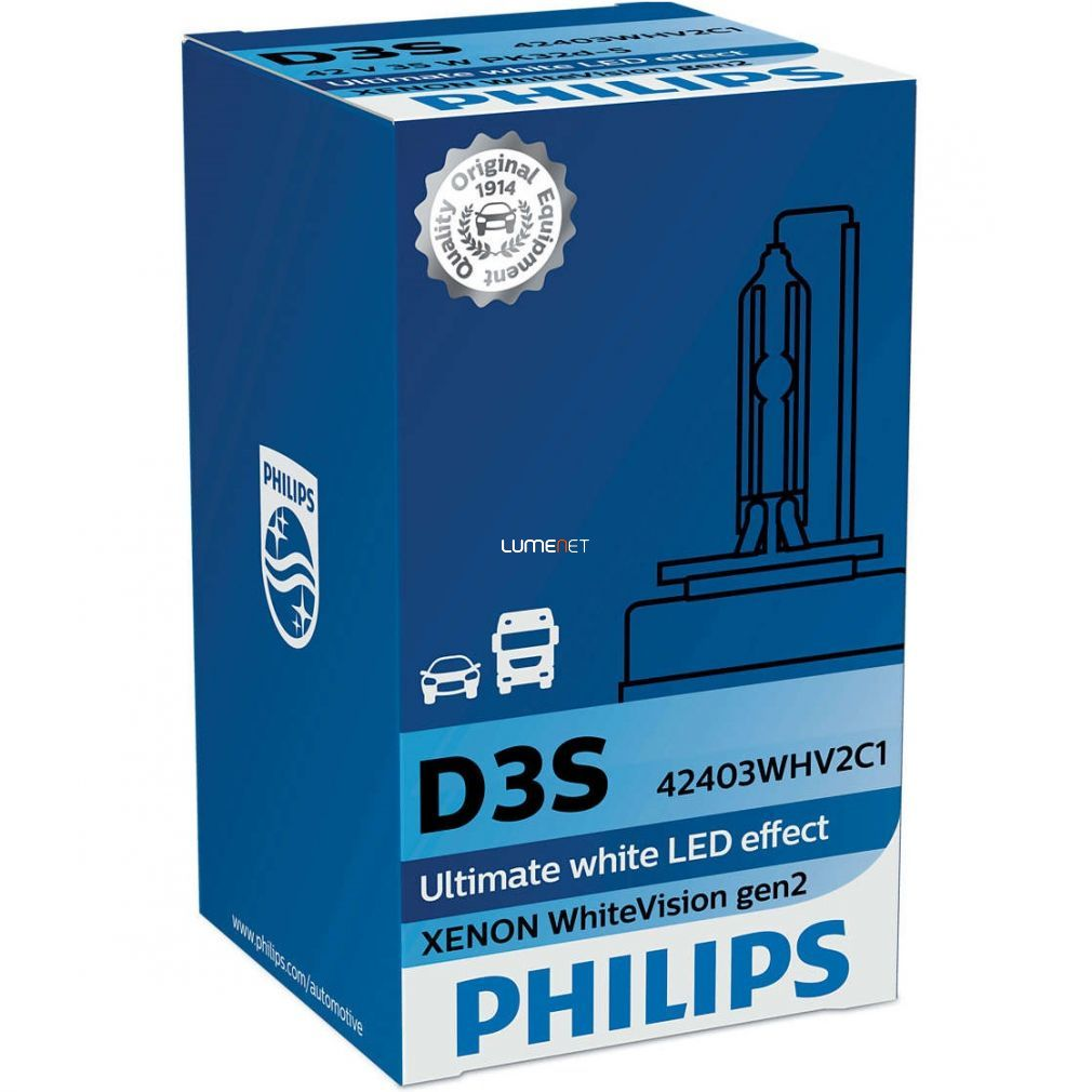 Philips D3S WhiteVision 42403WHV2C1 xenon lámpa