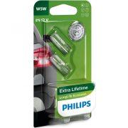 Philips Longlife Ecovision 12961LL W5W jelzőizzó