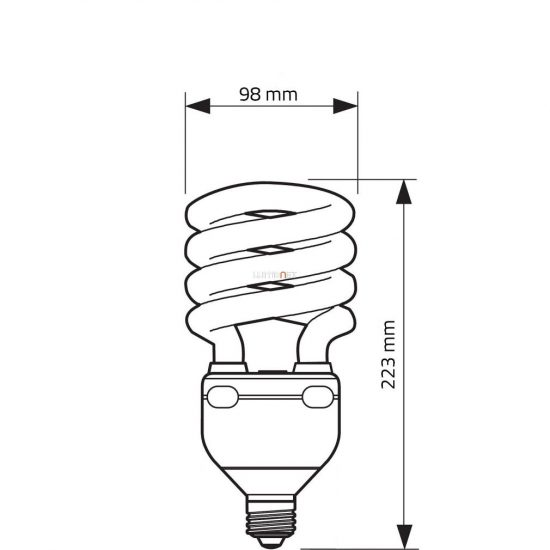Philips TORNADO HIGH LUMEN 60W 827 2700K E27