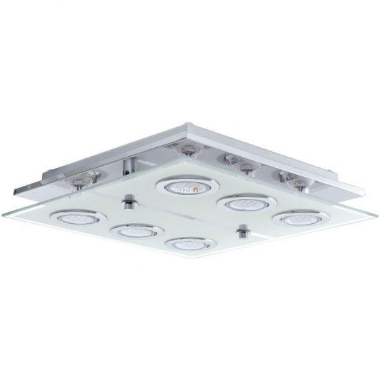 EGLO 13551 LED mennyezeti 6xGU10 3W króm/üveg CABO