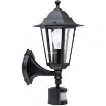 Eglo 22469 Laterna 4 kültéri fali lámpa 1xE27 max.60W szenzoros fekete