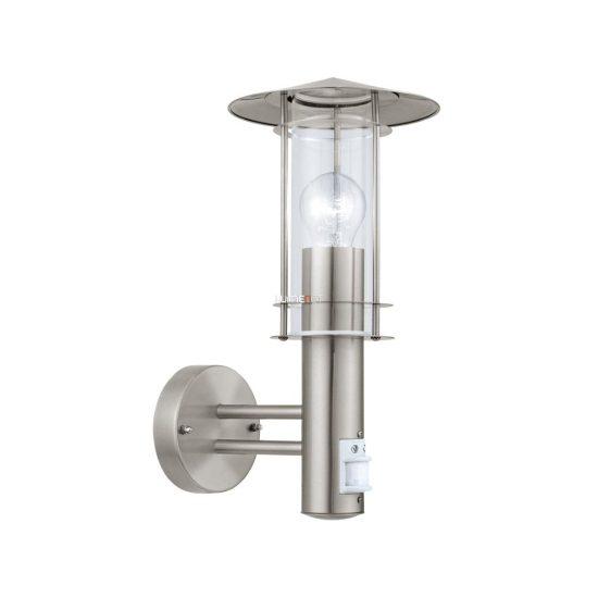 EGLO 30185 Kültéri fali lámpa 1xE27 max.60W szenzoros, nemes acél Lisio
