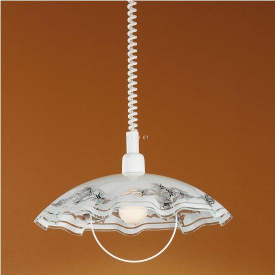 EGLO 3041 Húzós Függeszték 1xE27 max. 60W 42cm fehér/lila/fekete Vetro