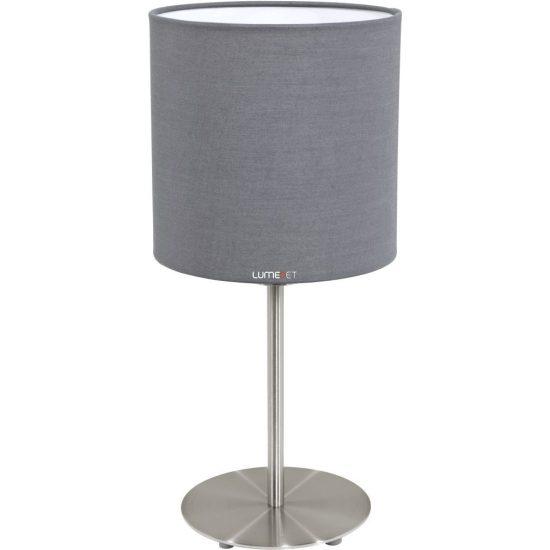 Eglo 31596 Pasteri szürke textil asztali lámpa 1xE27 foglalattal