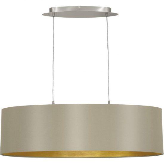 Eglo 31613 Maserlo tóp-arany textil függeszték 2xE27 foglalattal  ø78cm