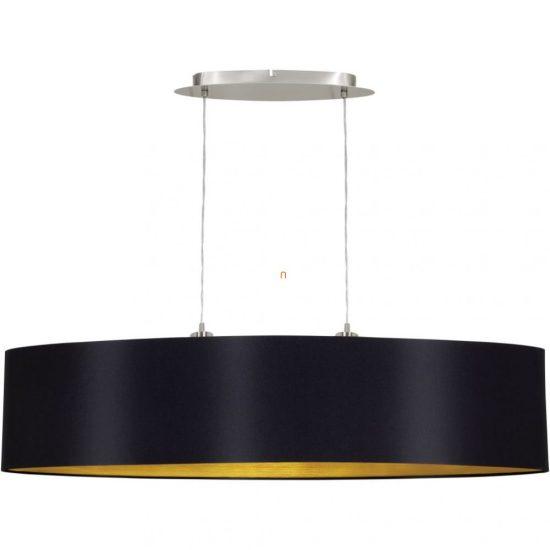 Eglo 31616 Marselo fekete-arany textil függeszték 2xE27 foglalattal   ø100cm