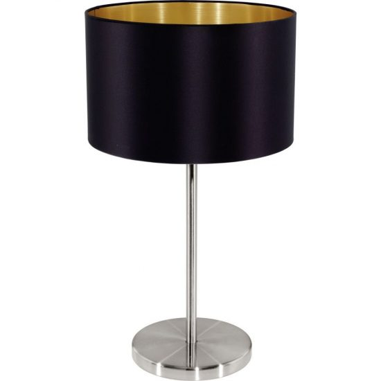 EGLO 31627 Textil Asztali lámpa 1xE27 max. 60W fekete Maserlo