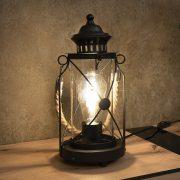 EGLO 49283 Asztali lámpa 1xE27 max. 60W fekete/üveg Bradford